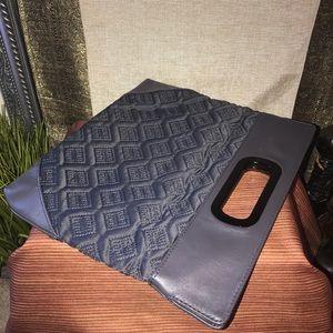 Express Gray Platium Quilted Evening Bag Clutch